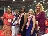 NEA Convention state coordinators with Maryland committee chairs
