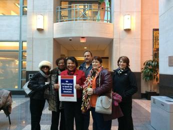 Supreme Court rally to support Fair Share with Princess Moss